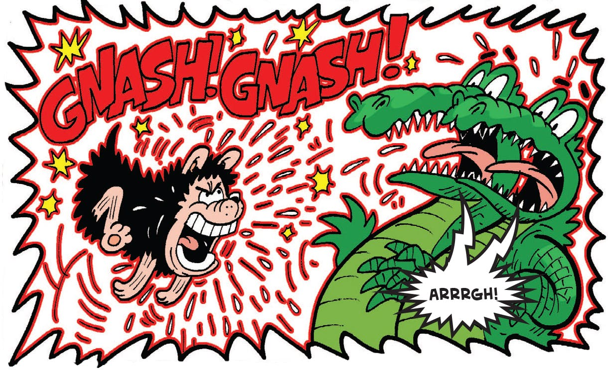Gnasher scares off gators