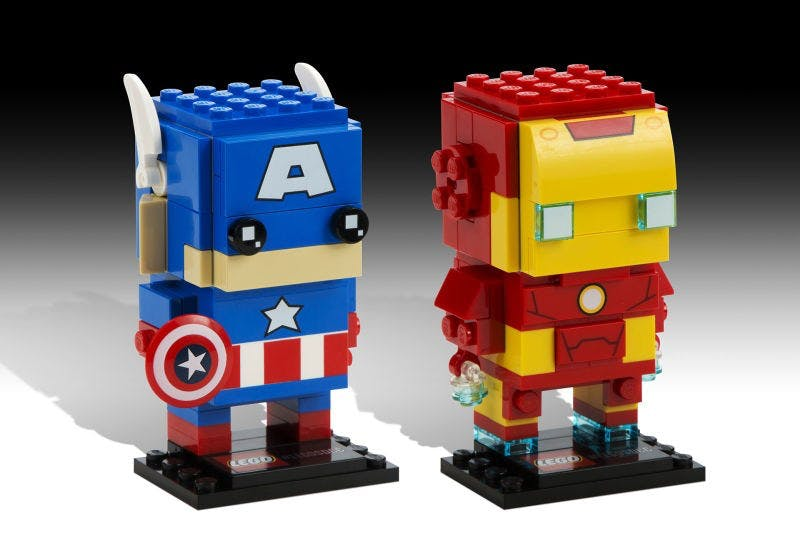 Lego Captain America and Iron Man