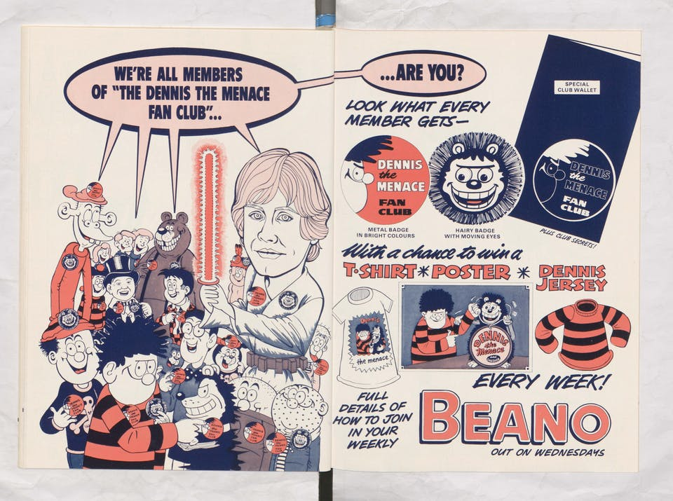 Use the Force - join the fanclub - Beano Book 1982 Annual