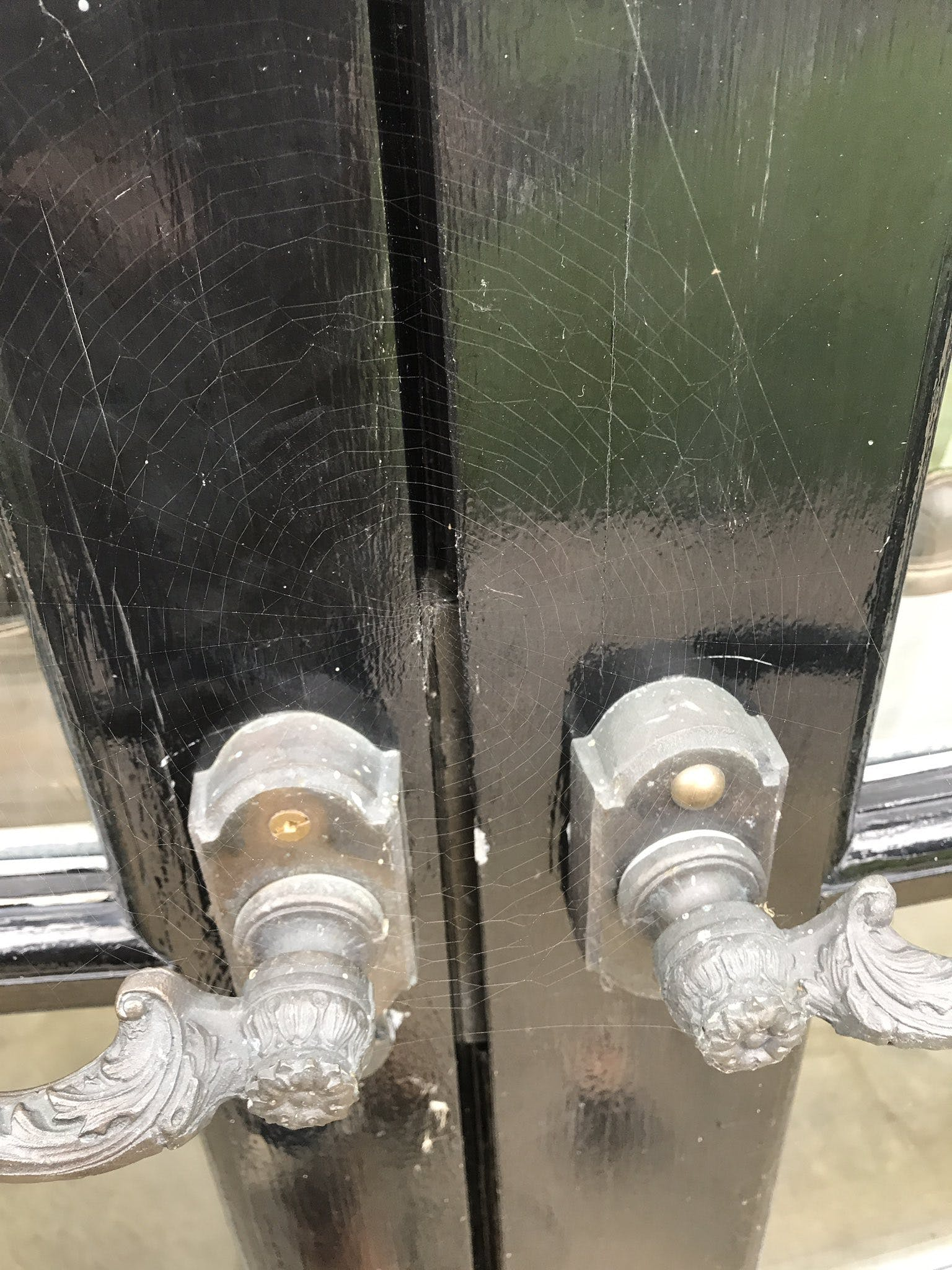 J.K. Rowling's spiderweb-covered door handles
