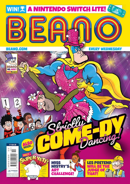 Inside Beano no. 4057 - Bananaman's got his dancing shoes on!