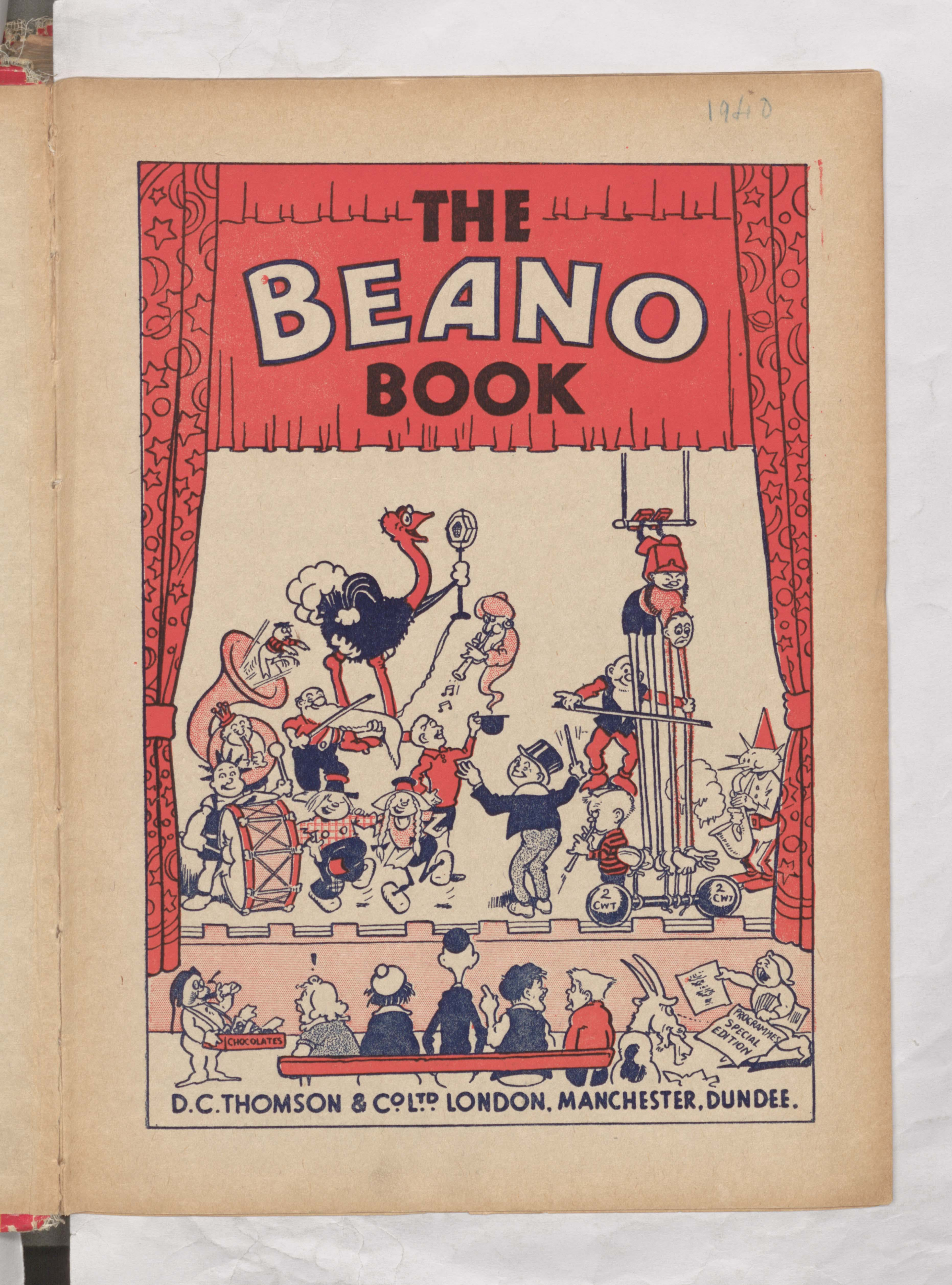 The Beano Book 1941 introduction