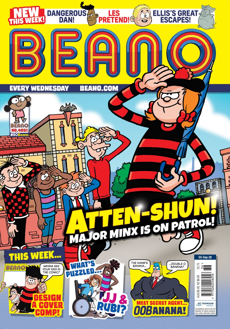 Inside Beano no.4052  - What Does the Future Hold for Dennis & Gnasher?