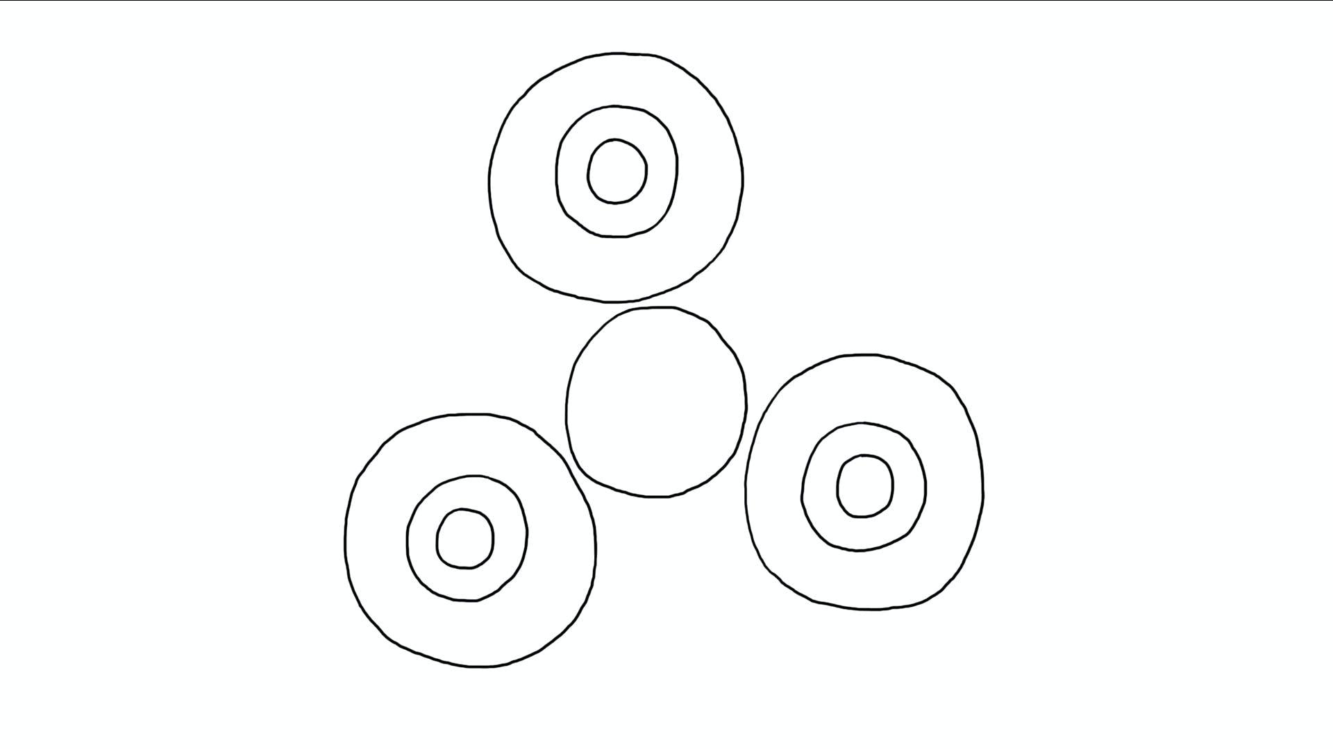 A forming fidget spinner