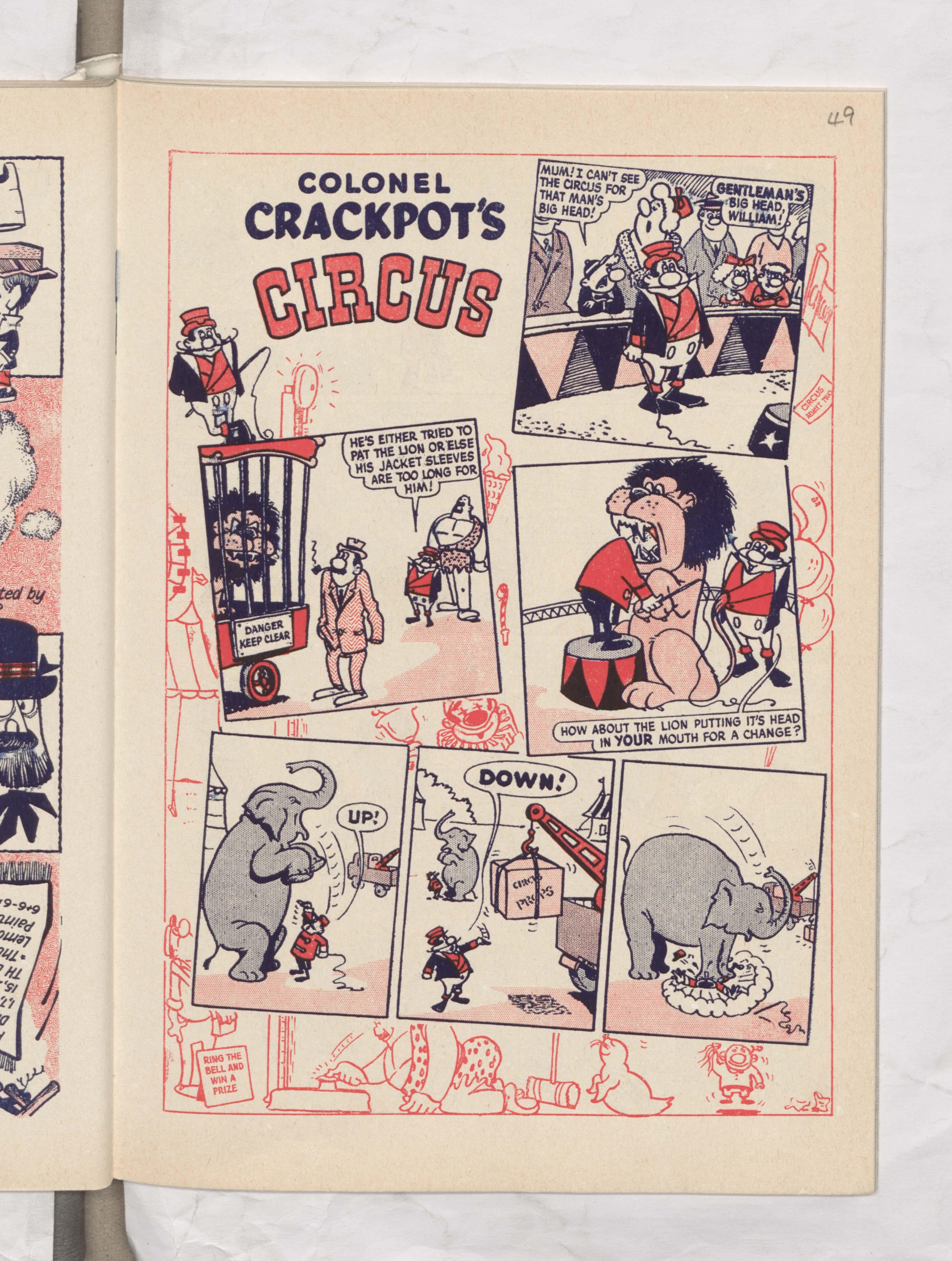 Colonel Crackpot's Circus - Beano Book 1962 Annual