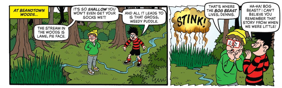Inside Beano 4020 - Dennis and Gnasher