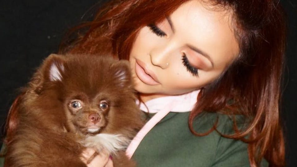 Jesy and her cute pet dog