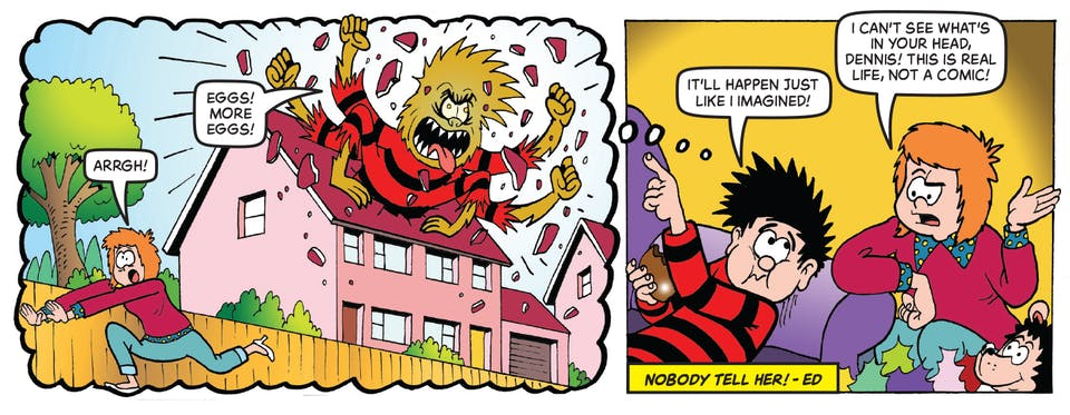 Inside Beano 3981 - Dennis and Gnasher