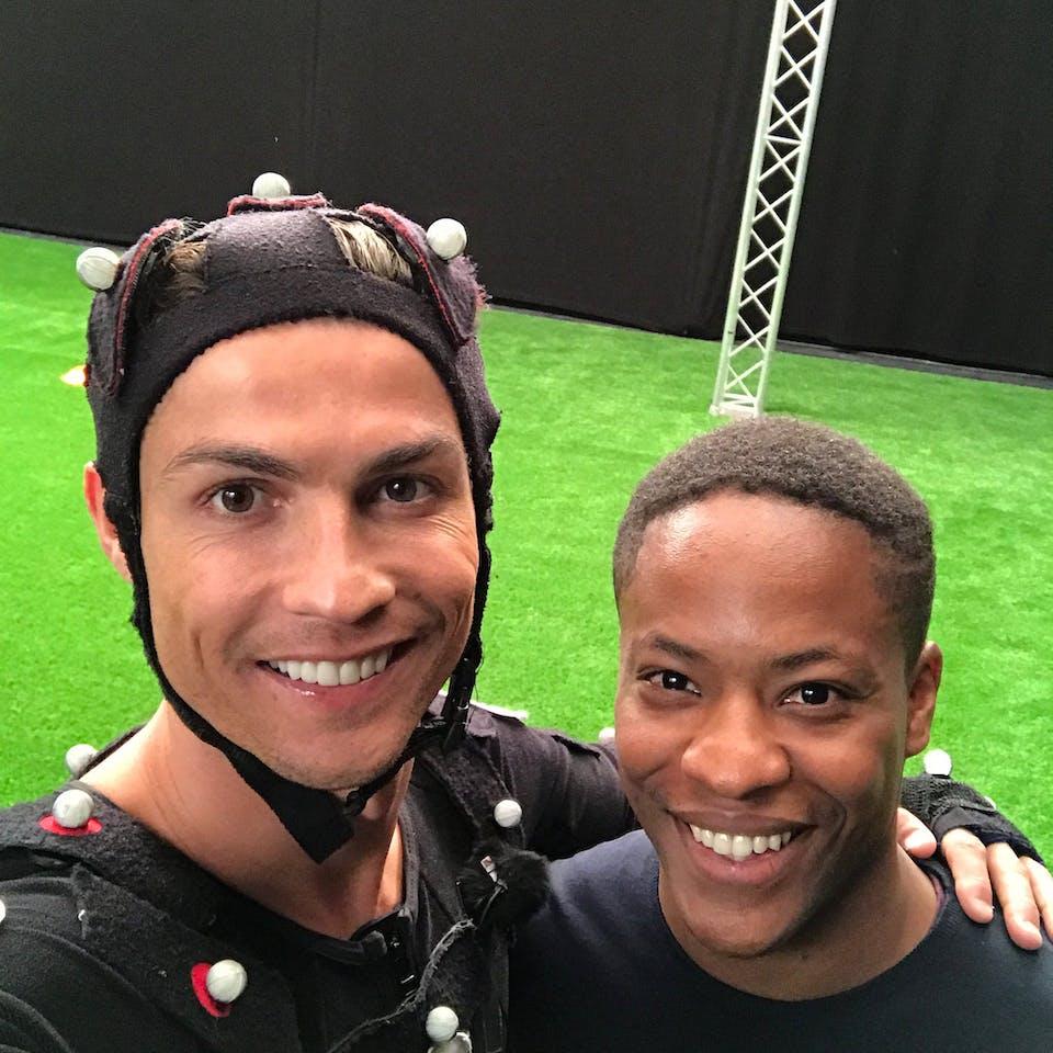 Cristiano Ronaldo and Adetomiwa Edun