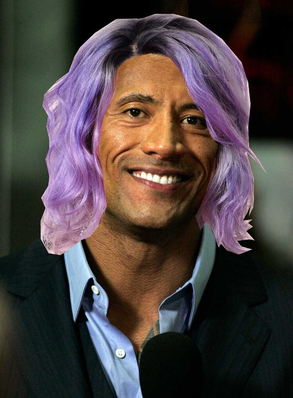 The Rock with Katy Perry's hair