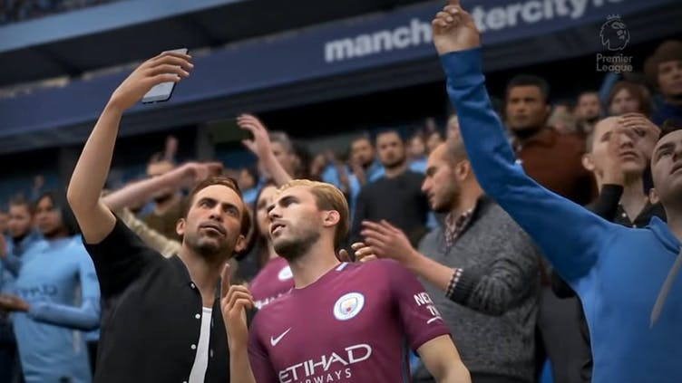 A crowd on FIFA 19