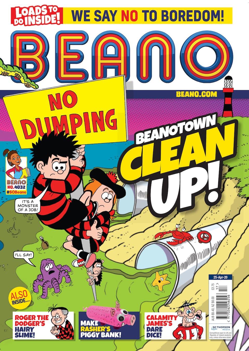 Inside Beano 4032 -  Beanotown is under attack!