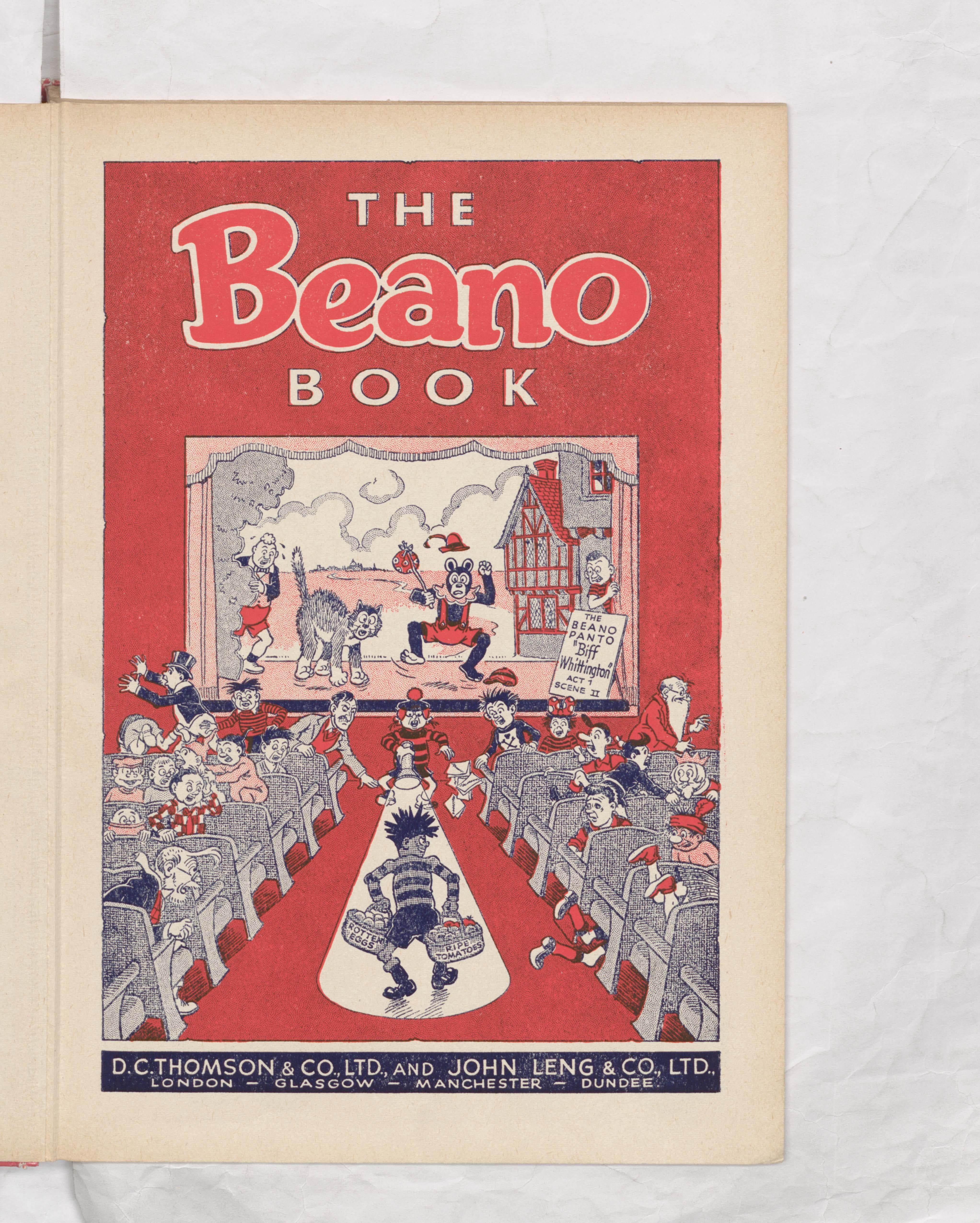 Welcome to the Beano Book 1959 Annual