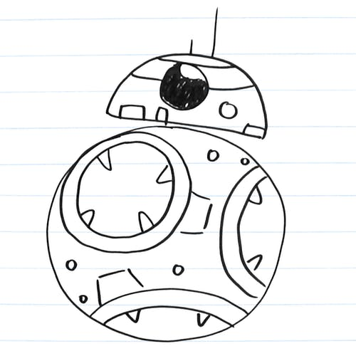 Drawing of BB-8