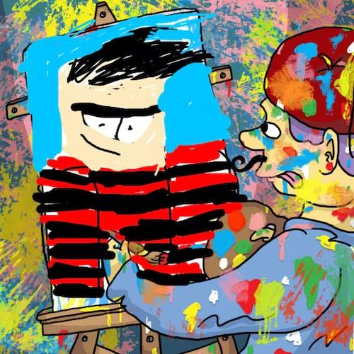 Artist painting Dennis