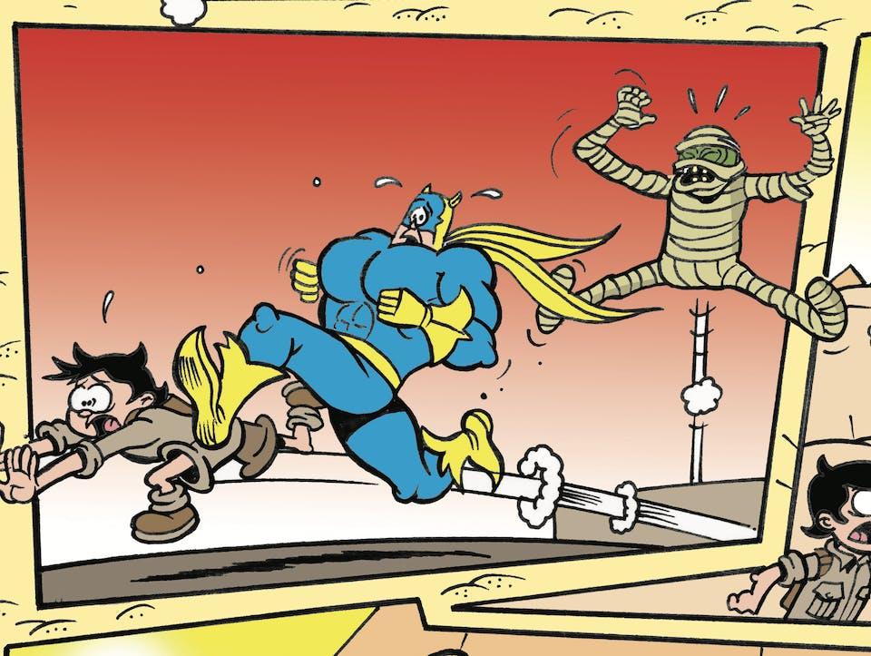 Bananaman and Eric meet the mummy