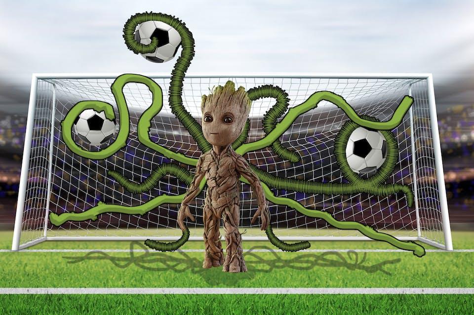 Goalkeeper Groot!