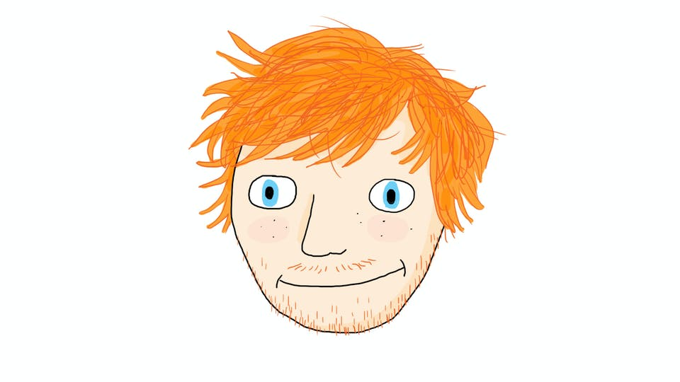 Ed Sheeran drawing