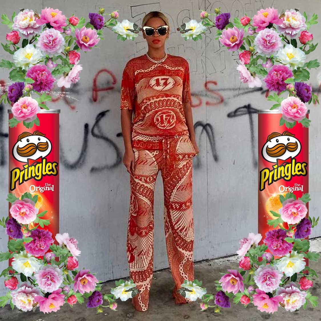 Beyonce telling the world she's popping to the shop for some crisps