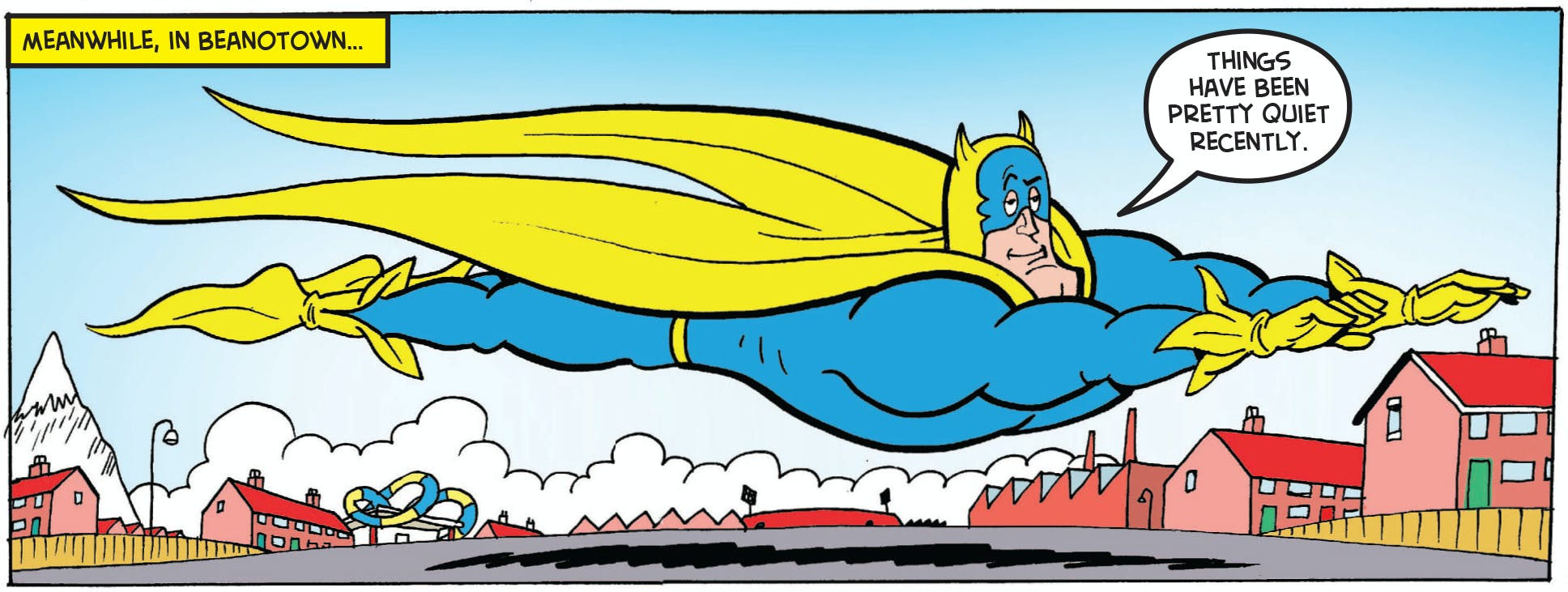 Bananaman flying