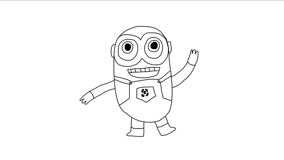 How to draw a minion