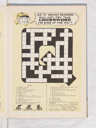 Beano Book 1970 - Q-Bikes - Page 15 crossword