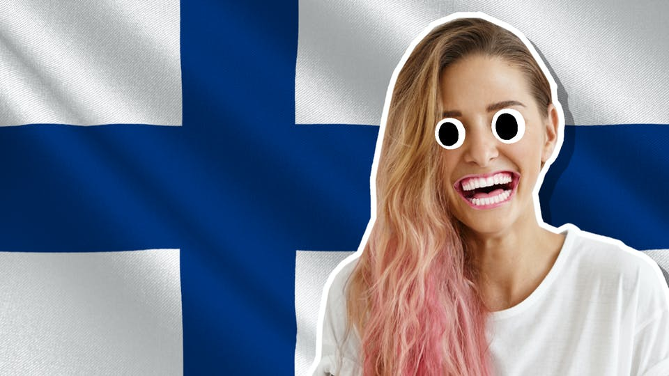 A happy Finnish woman