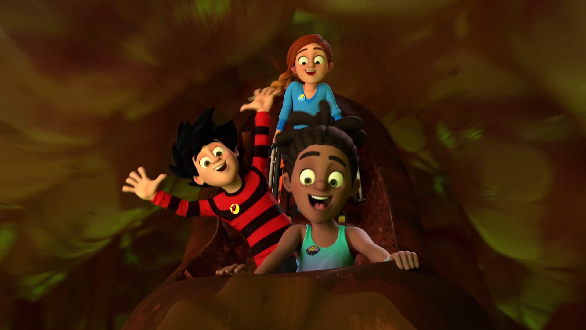 Dennis, JJ and Rubi from Dennis & Gnasher Unleashed!