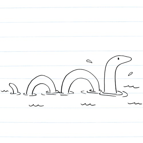 Drawing of Nessie
