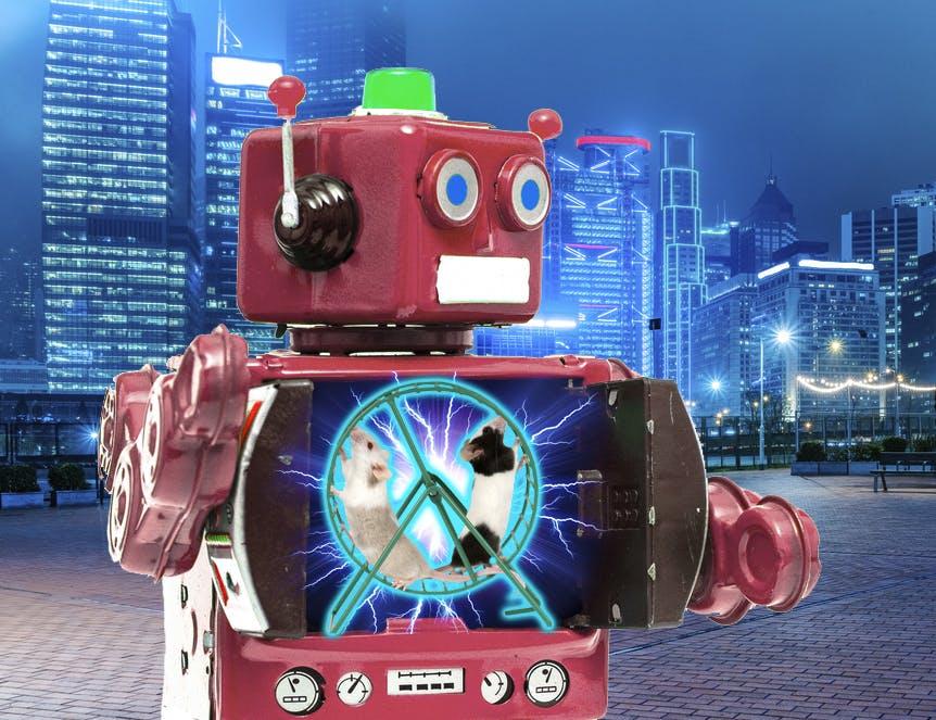 hamster wheel robot