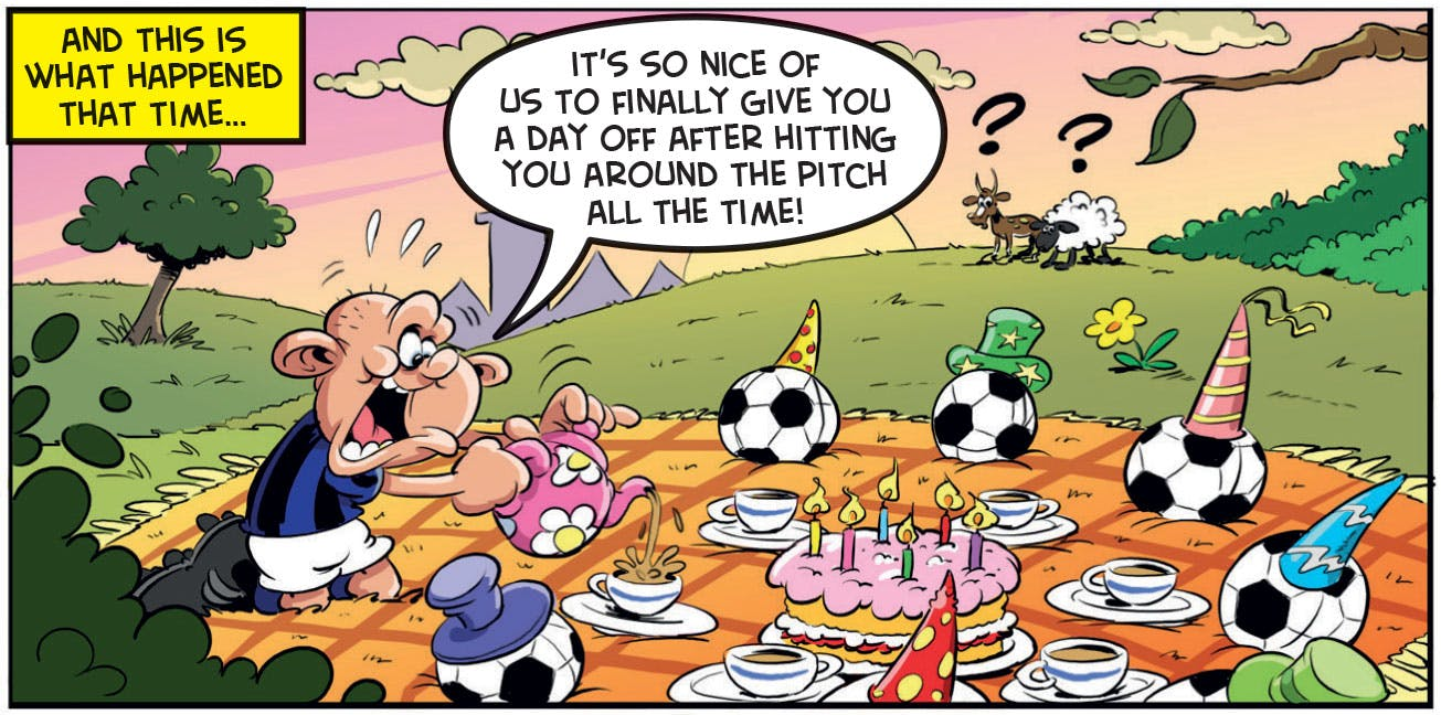 Ball Boy's friend Dimmy doesn't understand what a 'football party' is…