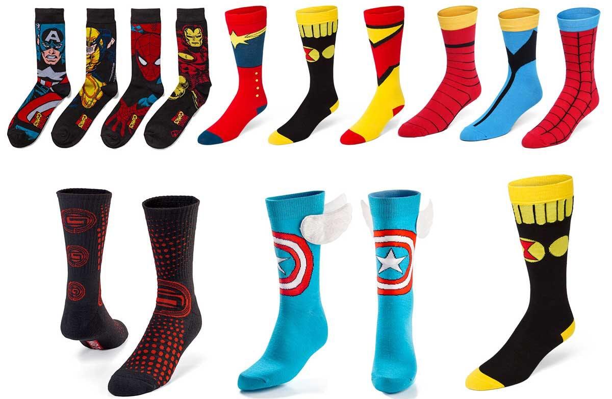 Marvel socks from Thinkgeek.com
