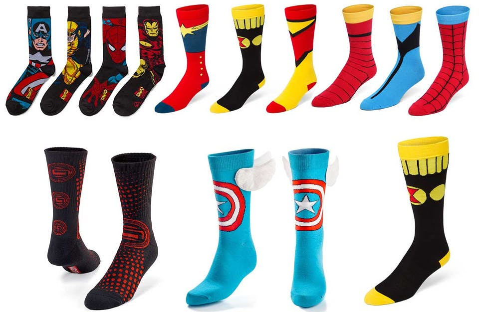 Marvel socks from Thinkgeek.com