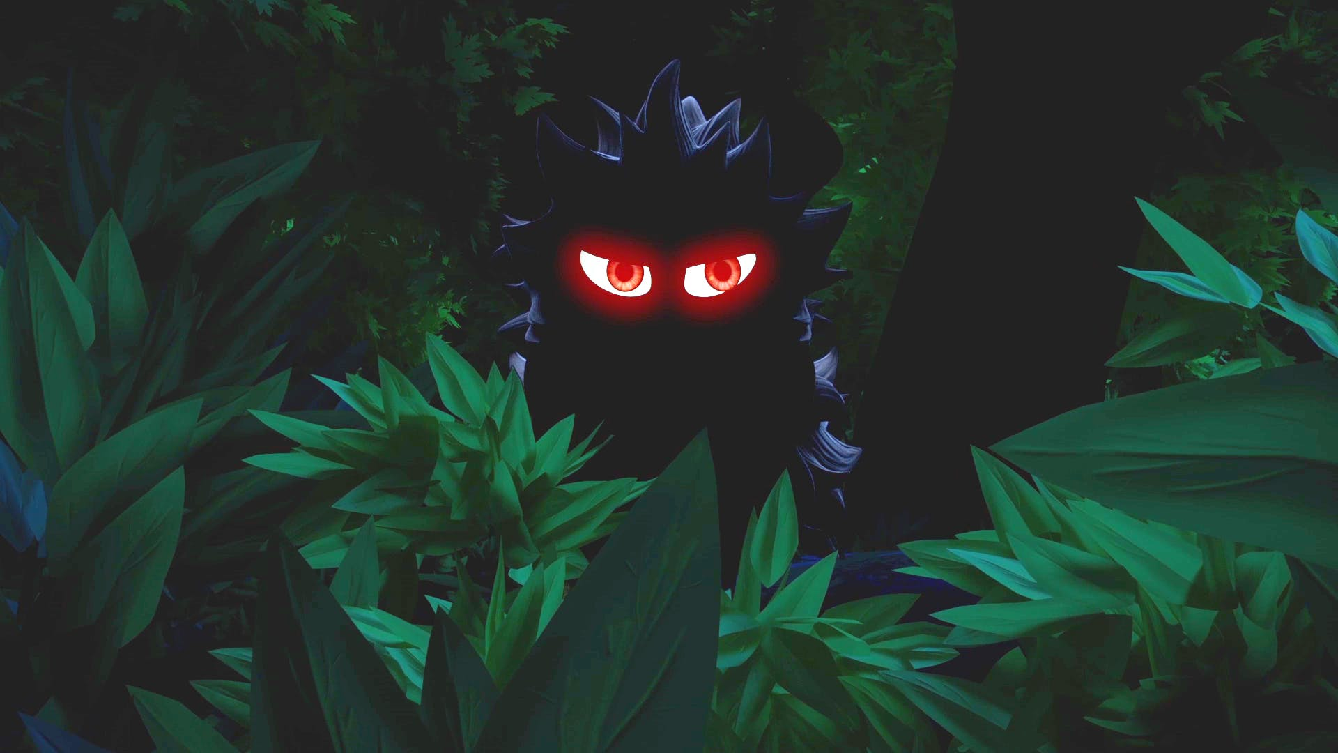 A mysterious snarling shadow from Dennis & Gnasher Unleashed!