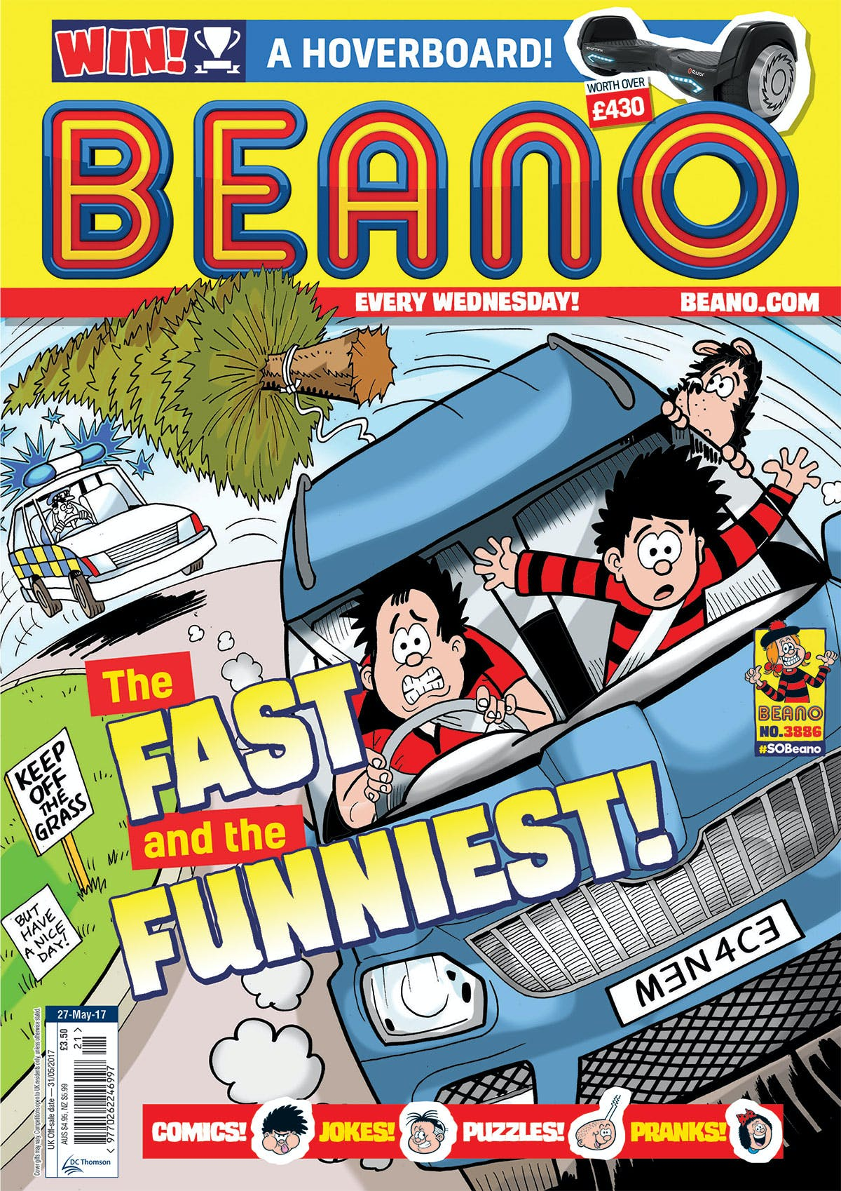 Beano 3886 cover, 27.5.17