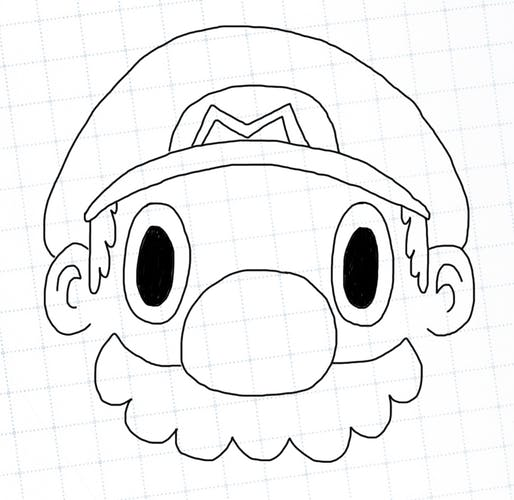 Mario without a chin