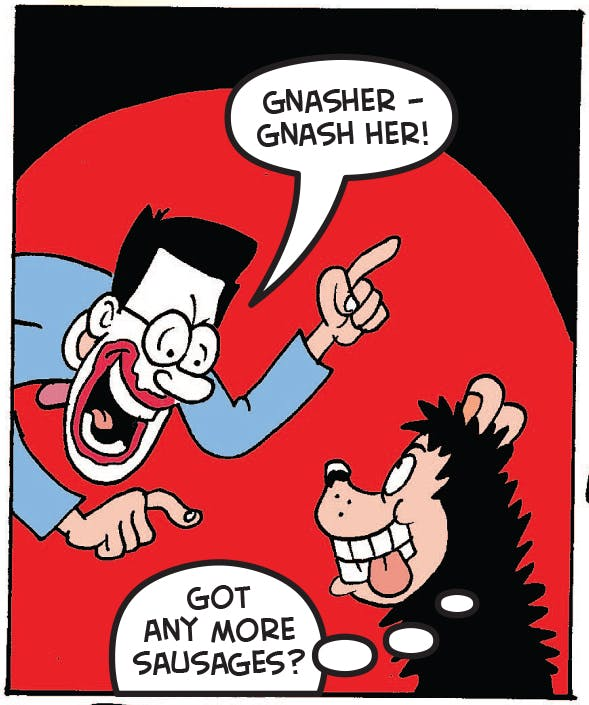 Walter talks to Gnasher