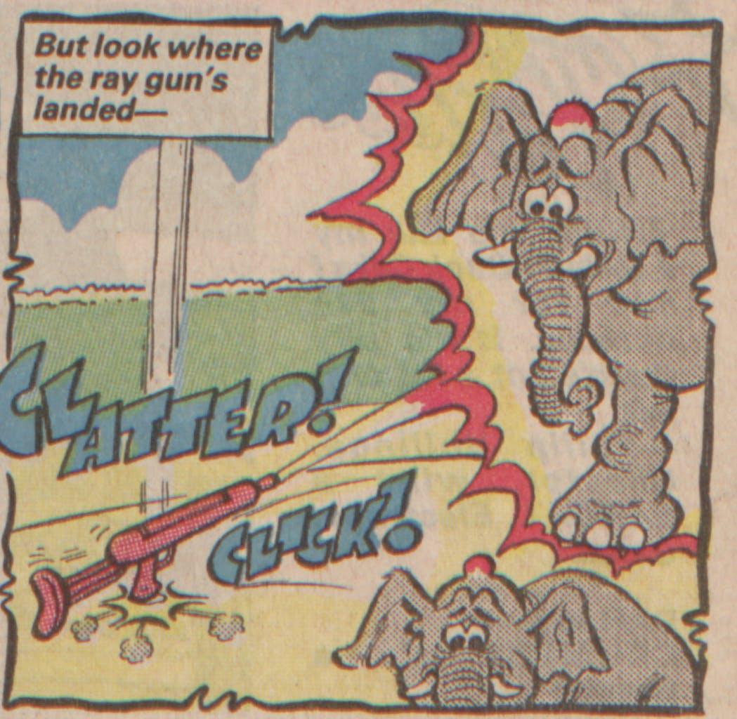 Bananaman 1985 - Elephants are in danger