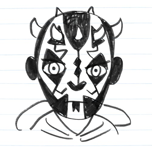 Darth Maul drawing