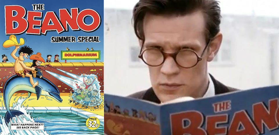 Doctor Who star Matt Smith reads the Beano summer special from 1981