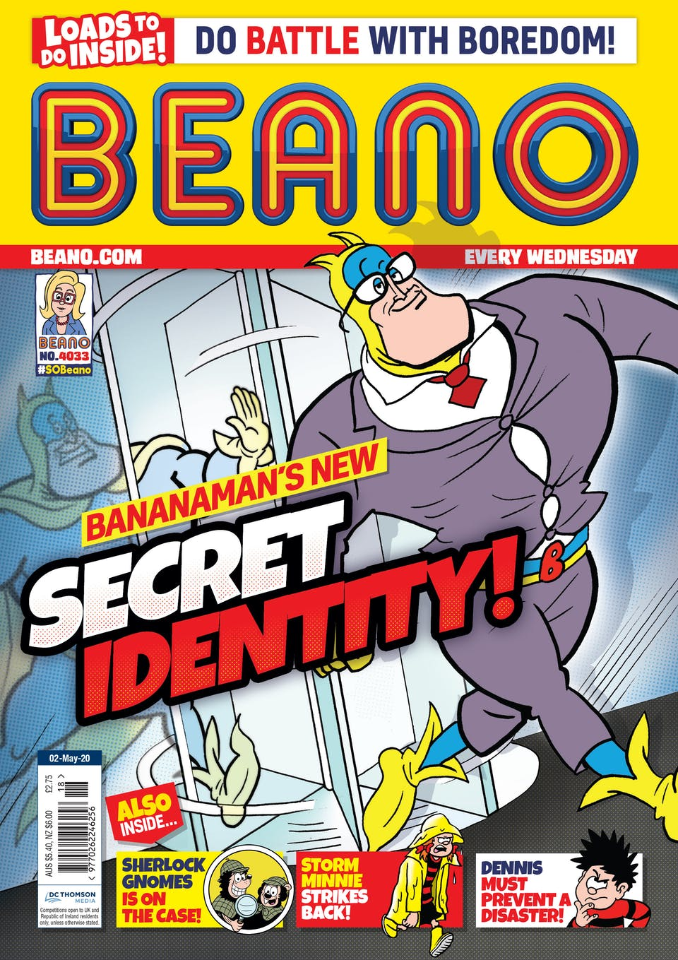 Inside Beano 4033 - Bananaman ditches the cape!