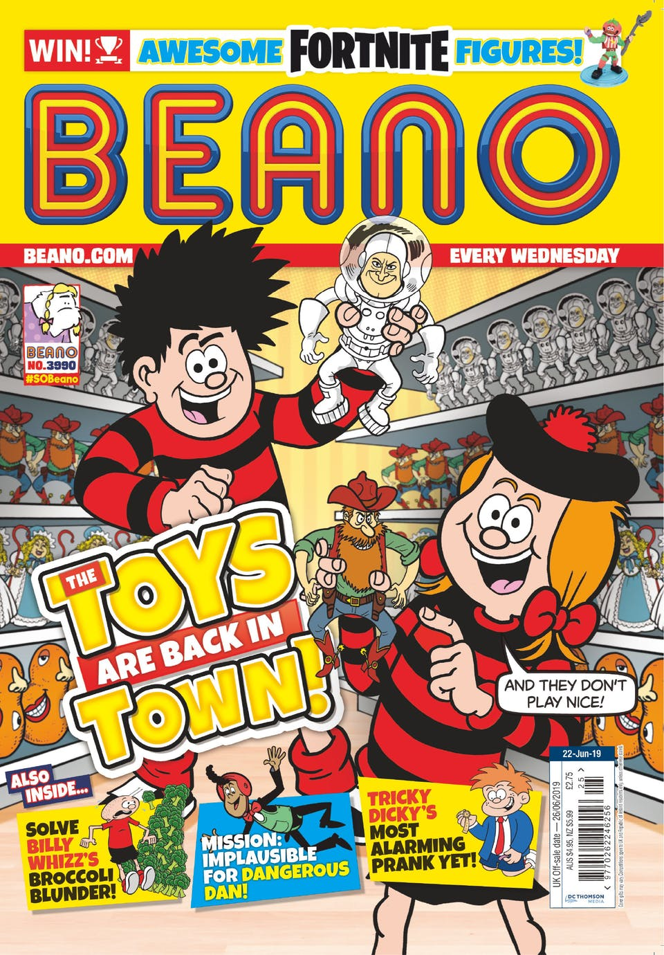 Inside Beano no. 3990 - The Toys are Back in Town!