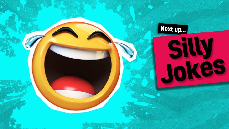 A wacky looking laughing emoji - click here to visit our silly jokes from our what did jokes