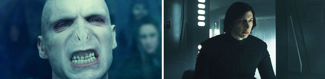 Harry Potter villain Voldemort and Star Wars' Kylo Ren