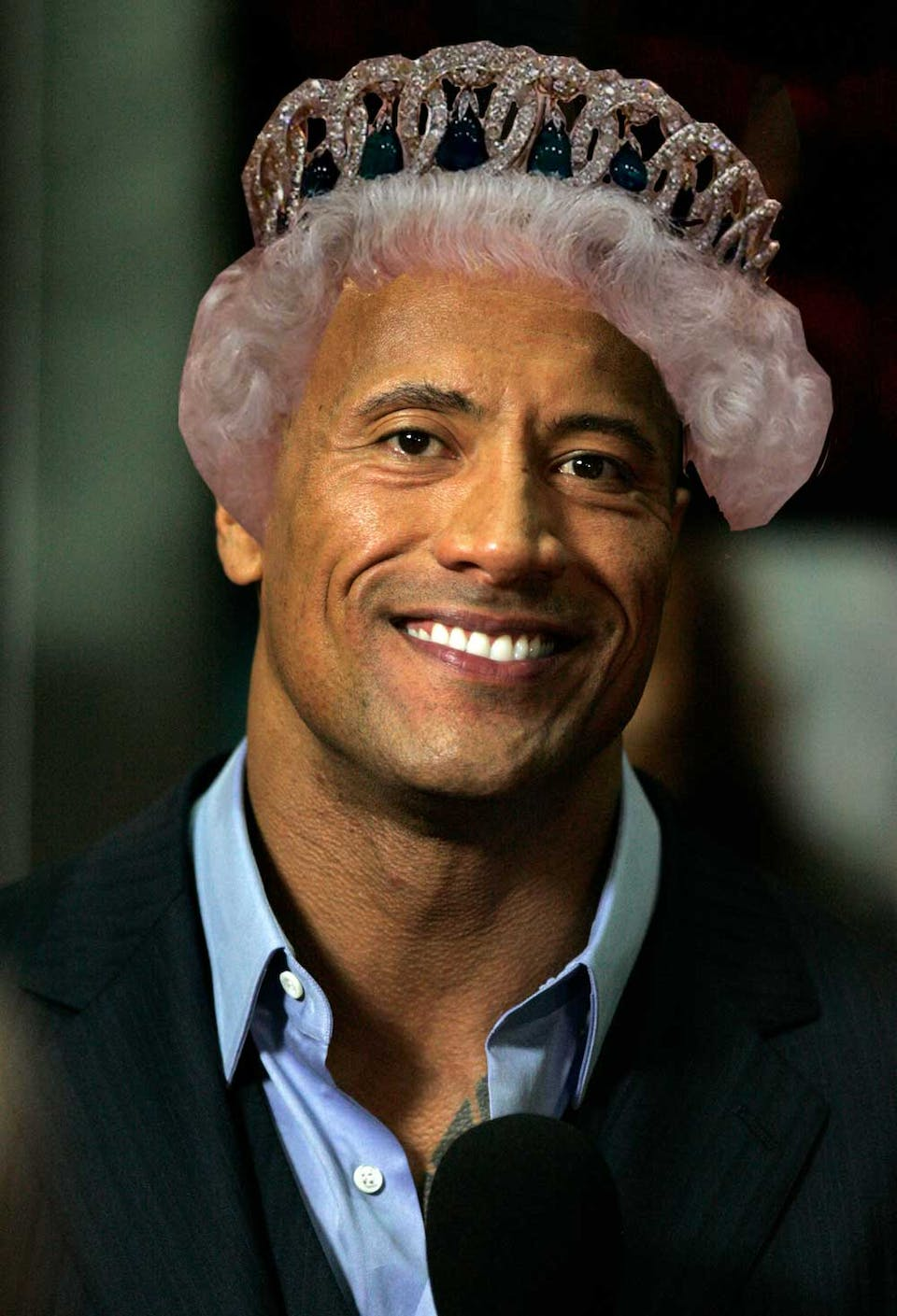 The Rock with the Queen's hair