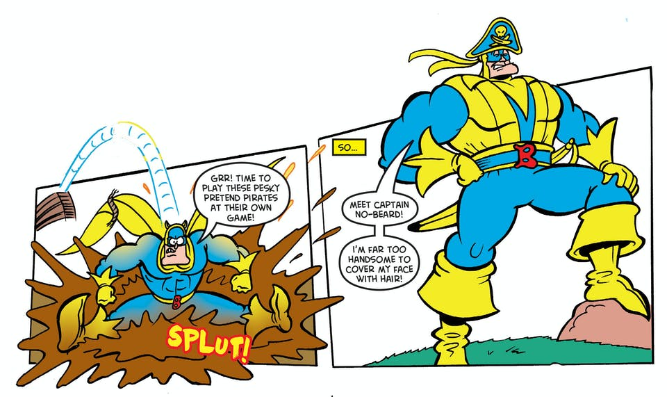 Bananaman hits the high seas - vitamin c's!