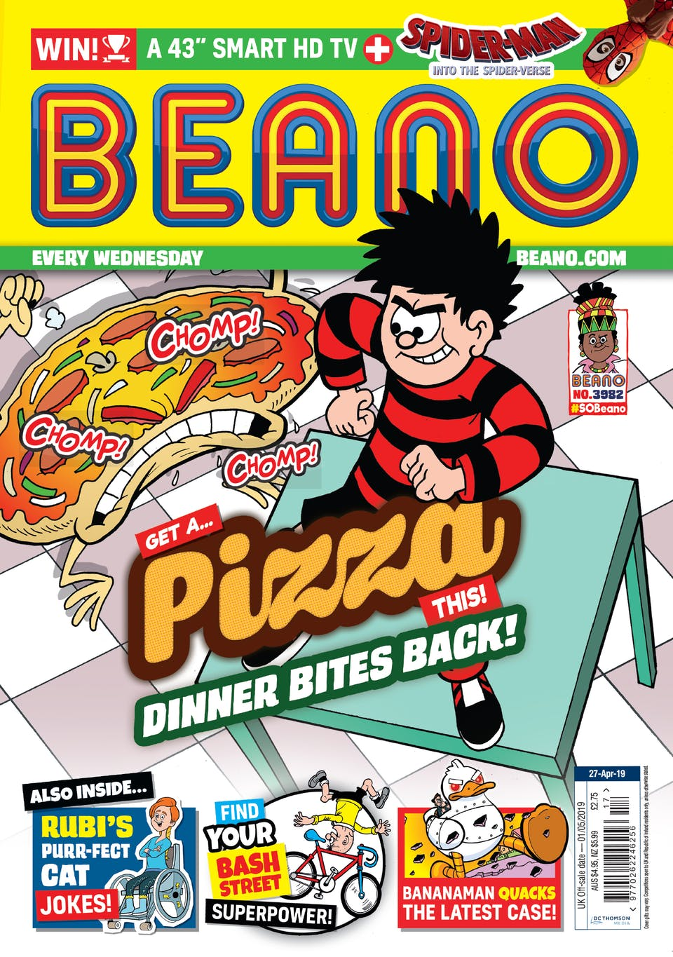 Beano no. 3982! - Dinner Bites Back!