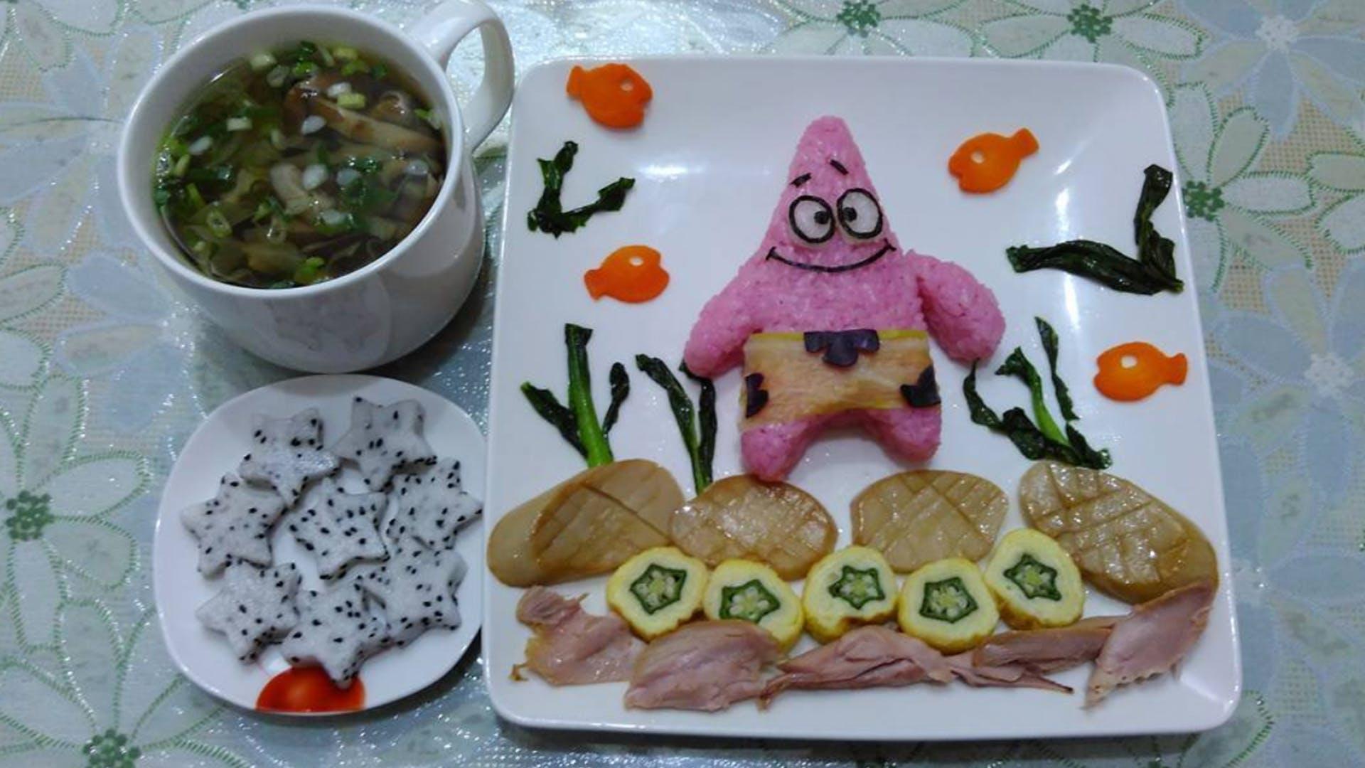 SpongeBob style sushi