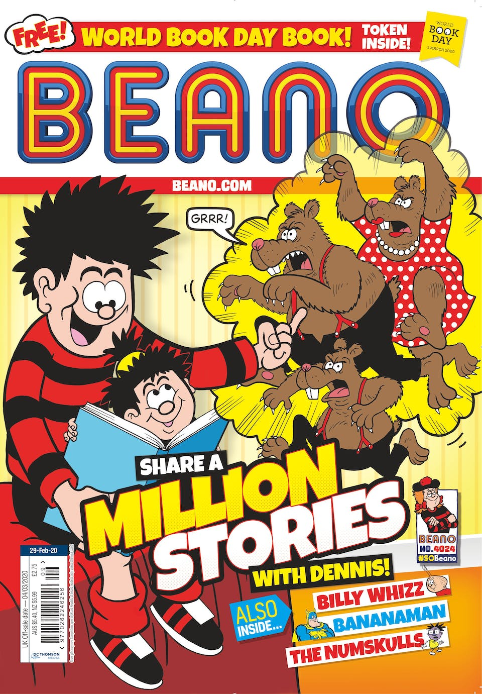 Inside Beano 4024 - Share a Million Stories With Dennis!