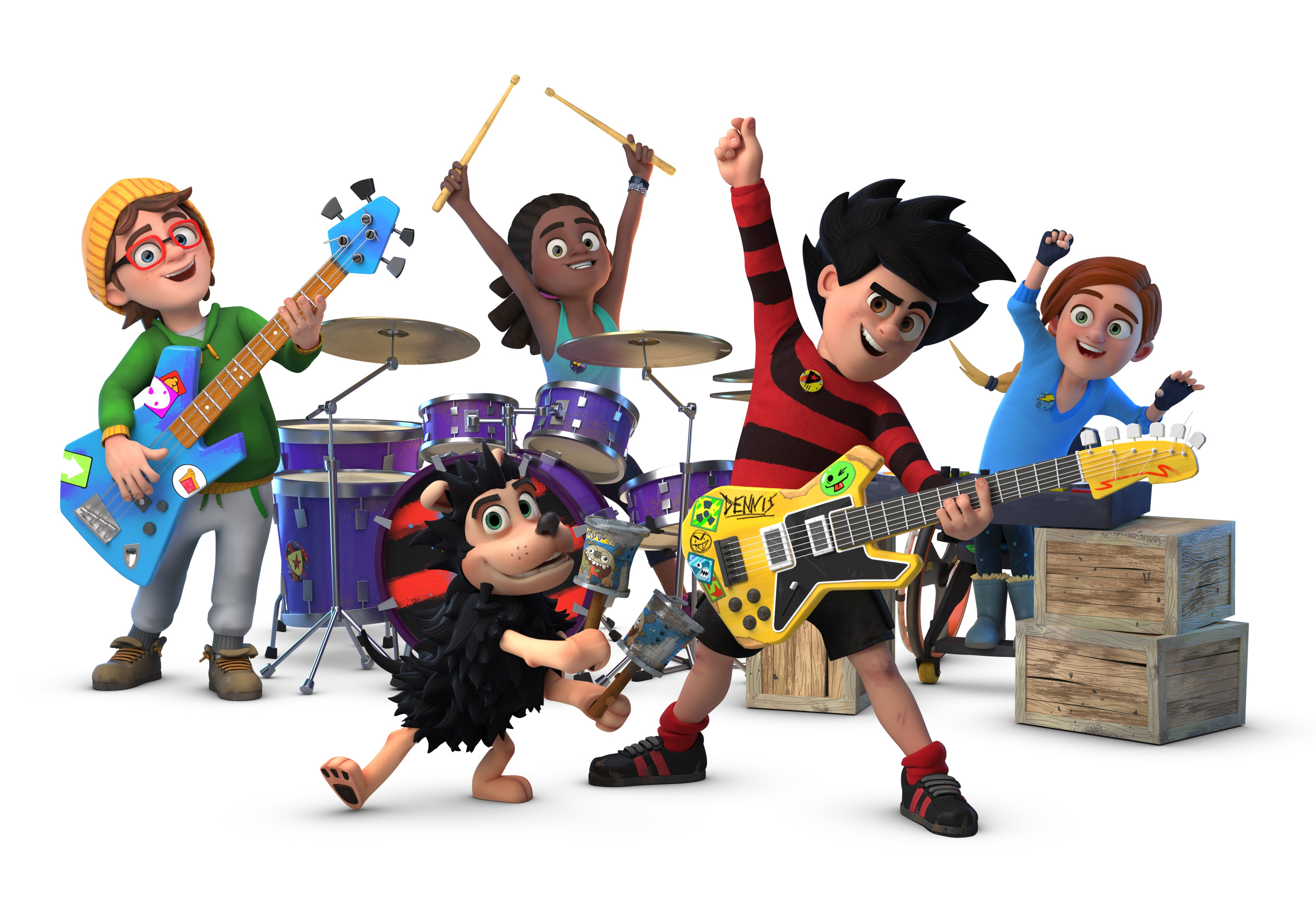 Rockin' out across Beanotown, it's Dennis and the Dinmakers